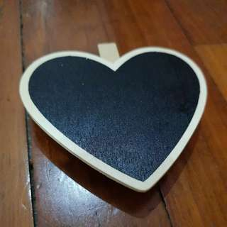 Chalkboard on Wooden Pegs (Heart) 5pcs