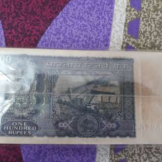 100 Notes Serial Packet ( Bundle ) - DAM - 100 Rupees - S. JAGANNATHAN - india - EXTREMELY RARE