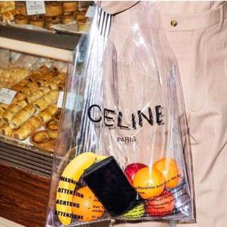 Celine 2018 Phoebe Philo plastic bag n clutch set