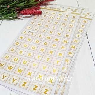 Sticker Alphabet Gold