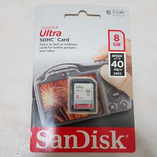 Sandisk Ultra SDHC Memory Card 8GB