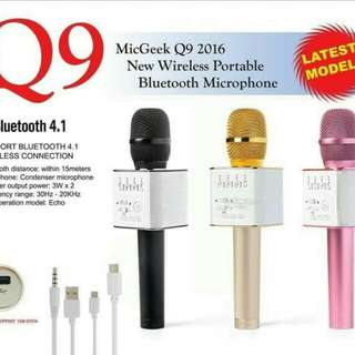 MIC Q9 KTV WIRELLES BLUETOOTH - MIC SMULE Q9