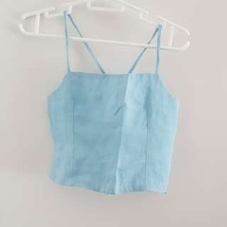 Blue Crop Sleeveless