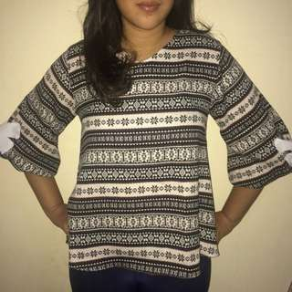 Blouse Tribal Coklat