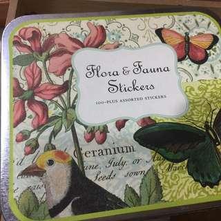 美國盒裝貼紙 鳥類