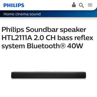 Philips Soundbar bluetooth speaker HTL2111A