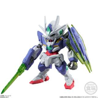 全新 高達 盒蛋 食玩 SD BB Gundam Converge Fusion Works FW Real Type Color Selection 00Q 0 00 oo q Qan[T] GNT-0000 高達 1 盒