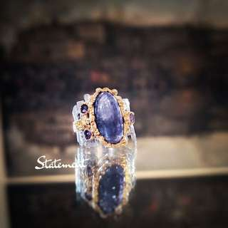 STATEMENT: Gold Plated Tanzanite Cocktail Ring