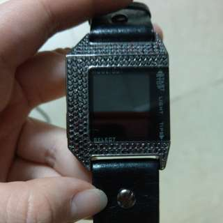 Diesel digital leather watch