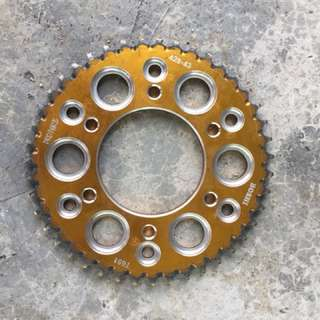 Y15zr rear sprocket