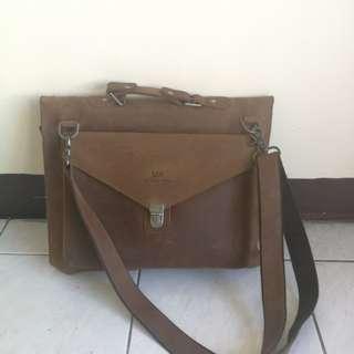 Genuine Leather Postal Bag for Laptop