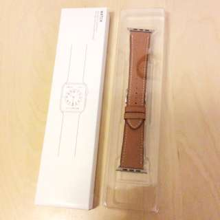 [Free Shipping 包郵] Apple Watch 42mm 啡色皮錶帶 genuine leather iwatch strap