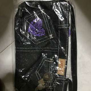 Anna Sui Denim Fashion Pouch and Bag