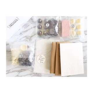 自製朱古力材料包連盒 chocolate valentines diy 蛋糕曲奇馬卡龍