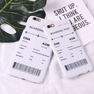 BTS boarding pass phone case
