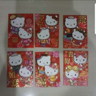 In stock Hello Kitty Ang pao Red Packets  6 In A Pack
