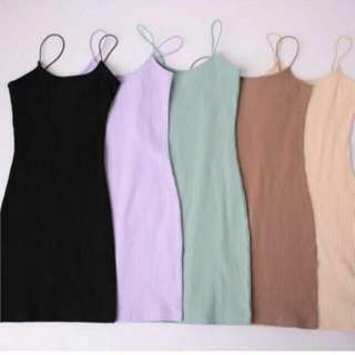 Halter Bodycon dress ( light brown )
