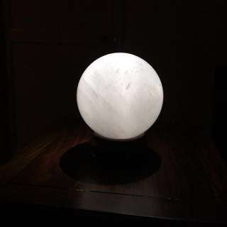 Milky White Calcite Crystal Sphere-A (白色方解石)