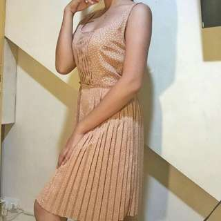 beige classy dress