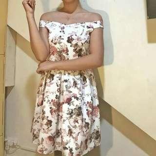 off shoulder  formal dress