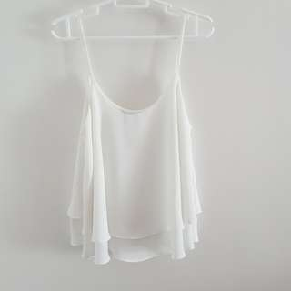 MNG White flowy top