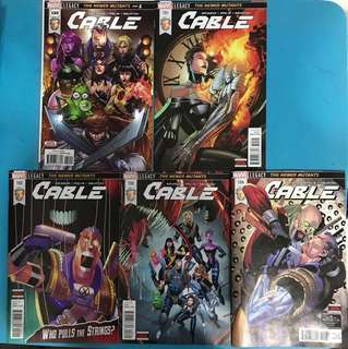 Marvel Comics Cable #150 to 154: The Newer Mutants (Complete)
