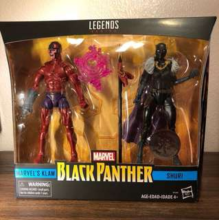 Reserve Early! Marvel Legends Series (Toys R Us Exclusive) Black Panther - Klaw & Shuri Two Pack