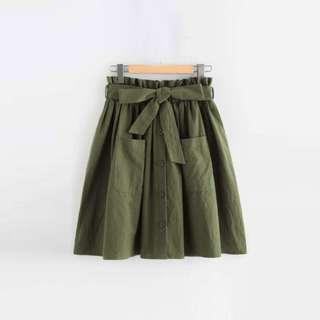 Garter Skirt with Pocket