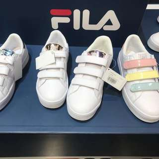 Last Preorder! Official FILA authentic Korea bold shiny court deluxe // pastel series pink yellow blue / rose gold / gold / purple
