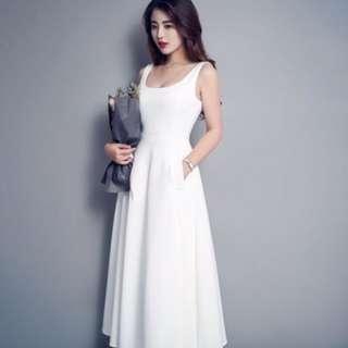 (White) Classic Pompom Dress