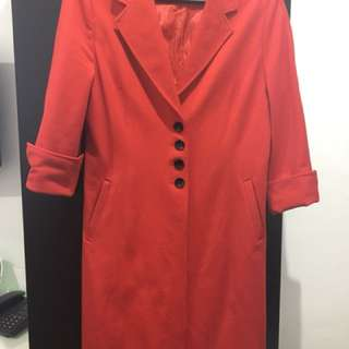 Ensembles Red Trench Coat