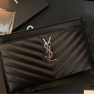 Saint Laurent YSL Wallet Pouch Card Holder