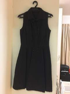 Navy blue collared work or casual dress