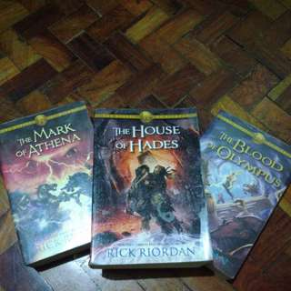 Percy Jackson Mark of Athena, House of Hades, and Blood of Olympus