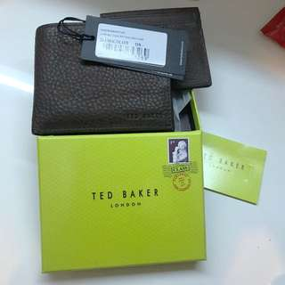 Ted baker brown leather wallet