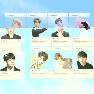 BTS transparent PHOTOCARD