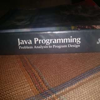 Java Programming (Problem Analysis to Program Design) Fifth Edition by D. S. Malik