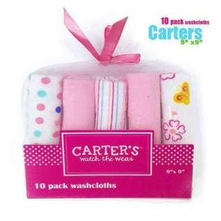 Carters 10pcs set Wash Cloth