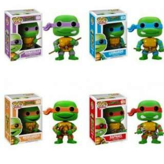 Ninja Turtles Funko Pop Set of 4