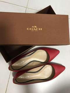 [98%new]coach 紅色平底鞋 37碼