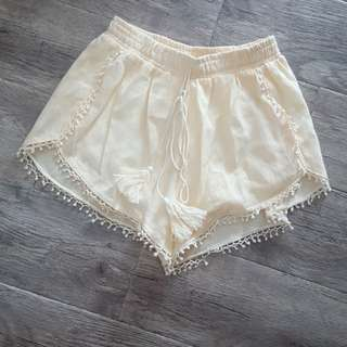 Light Yellow Loose Shorts