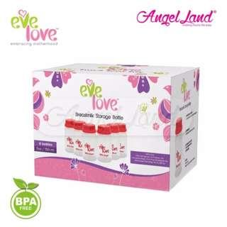 6 x Eve Love BPA Free Storage Bottles 5oz/150ml