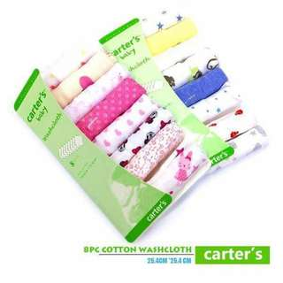Carters Wash Cloth 8pc set