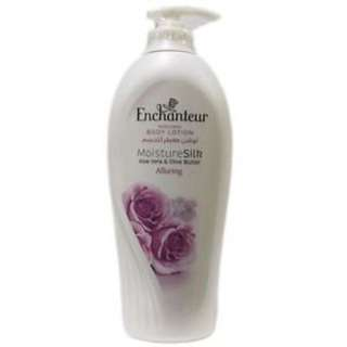(NEW) Enchanteur Moisture Silk Aloe Vera & Olive Butter Romantic Perfumed Body Lotion 400ml