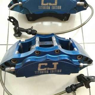 CJ Titanium Edition 4pot caliper