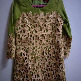 Customade baju kurung with lace