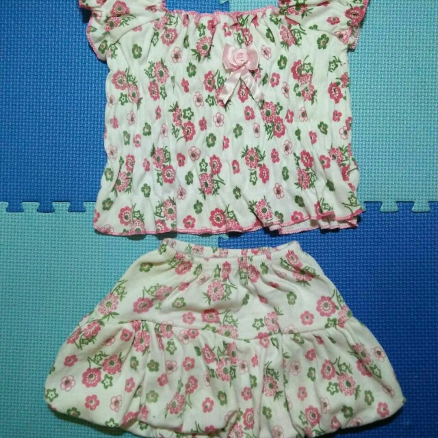 3 set Setelan Dress / 3m-9m