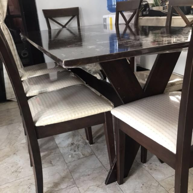 Seater Dining Table Home Furniture On Carousell - 5 seater dining table