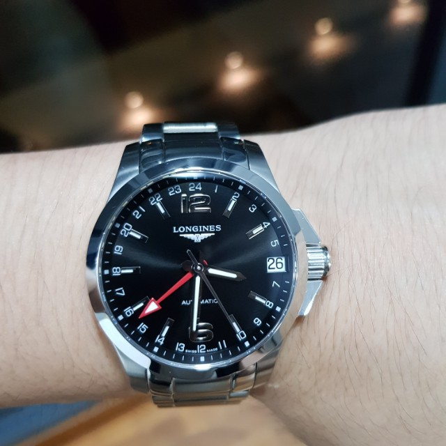 3d08a8e3f 60% CNY Off!! New Longines Conquest GMT Black Dial 41mm Automatic Latest  Model, Men's Fashion, Watches on Carousell