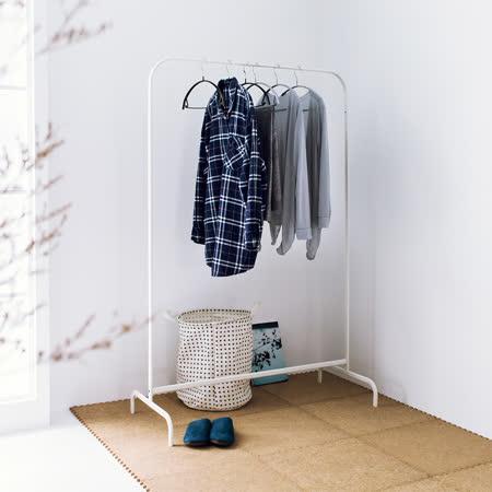 北歐簡約設計風ㄇ造型吊衣桿/曬衣架-純淨白